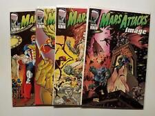Mars Attacks Image #1-4 NM (Image,1996) Savage Dragon, Spawn, Maul and Gen13!