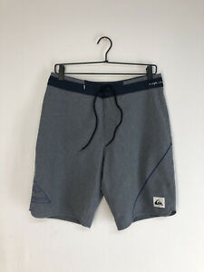 QUICKSILVER High Line 4-Way Stretch Swim Board Shorts Grey Blue 30 EUC