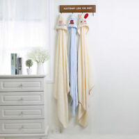 Baby Hooded Bath Towel Infant Bathing Blanket 100% Bamboo Cotton Blue Pink 95*95