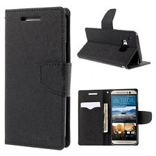 Korean Mercury Fancy Diary Wallet Case Cover for HTC One M9 - Black