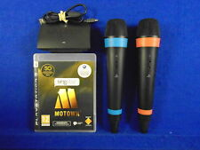 ps3 SINGSTAR MOTOWN + 2 WIRELESS Official Mics Microphones PAL UK REGION FREE