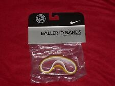Nike Baller id Bands Wristbands Bracelets Red Yellow White 3 Pack New