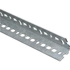 """25 Pk Galvanized 1.5"""" X 1.5"""" X 1' Slotted Steel Garage Door Opener Angle N182741"""