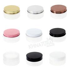 3oz 80ml Frosted Translucent PET Jars w/ Cap Plastic / Metal Screw Lid Empty