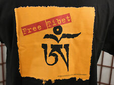 VTG 1999 Free Tibet T Shirt Sz Medium Black Freedom Activism