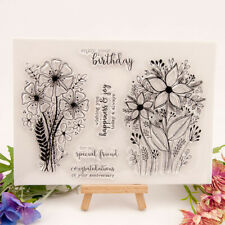 Bouquet Clear Rubber Stamps Floral Scrapbook Scrapbooking DIY Xmas Hand Craft
