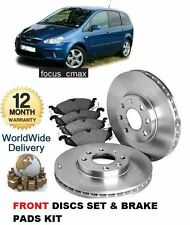 FOR FORD FOCUS C MAX 1.6i 2003-2007 FRONT BRAKE DISCS SET AND DISC PADS KIT