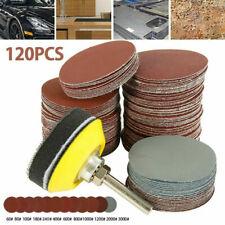 "120Pcs 60-3000 Grit 2"" Sander Disc Car Sanding Polishing Pads Abrasive Sandpaper"