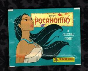 Pack of 6 Six Collectible Disney's POCAHONTAS Stickers -- Packed Sealed