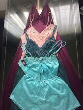 4 Piece 1960s Vintage Lingerie Slip Nightgown Cami & Panty Set Lot~S-M