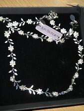 Necklace bracelet  set Jon Richard silver colour flower leaf wedding