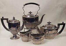 Antique English Sheffield 5 Piece Tea Service Dixon and other makers.