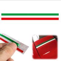 Car PVC Italian Italy Flag Sticker Strip Decal Badge 40*1.5cm Bright Color X1