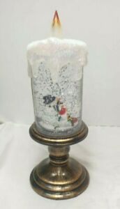 Christmas LED Glitter Candle Xmas Snowman  Lamp Home Gift Decoration 1870-2