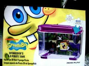 New in Box Spongebob 3-D Pirate Fish Tank S-13