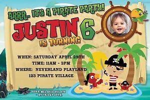 PIRATE Invitation Birthday Invite YOUPRINT PIRATES DIGITAL FILE