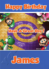 - MARIO KART WII - IDEAL FOR SON FRIEND PERSONALISED CHILDREN'S BIRTHDAY CARD