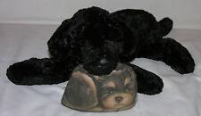"Untagged Very Soft Velvety Black Labrador Puppy Bean Bag Plush 14"""