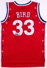 Larry Bird SIGNED #33 East All-Stars XL ADIDAS red jersey w/ PSA COA