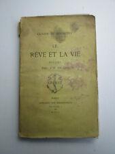 OLIVIER DE GOURCUFF Le Rêve et la Vie Poésies 1890 Librairie des Bibliophiles