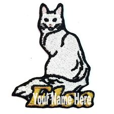 Turkish Angora Cat Custom Iron-on Patch With Name Personalized Free