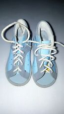 Boys/Girls Blue Leather Healthy Foot Laces Shoes - Open Toe - Size 5.5 (Euro 21)