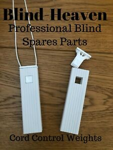VERTICAL BLIND CONTROL CORD WEIGHTS WHITE CORD WEIGHT REPLACEMENT / BLIND SPARES