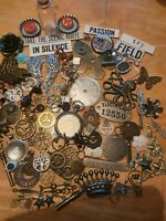 BUMPER T/HOLTZ STEAMPUNK /CHARMS  PACK 110 + ITEMS EMBELLISHMENTS ALTERED ART