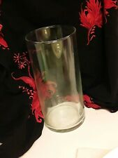 Clear Cylinder Glass, Water Vase for Flower- Plant Decorative Glass  For Crafts