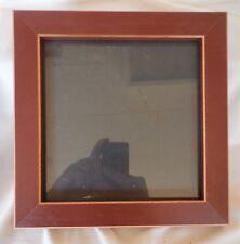 "7"" x 7"" Reddish Brown Solid Flat Wood Frame"
