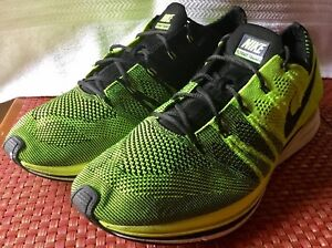 Nike Flyknit Trainer Volt 2012 Gold Medal Podium 532984-700 Rare Qs