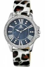Womens Watch JLo By JENNIFER LOPEZ JL-2845BMSV Leather Spotted Gray Swarovski