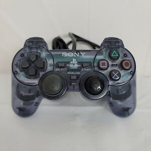 Official OEM Sony Playstation 2 PS2 DualShock Purple Clear Controller