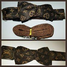 Designer Monogram Dog Collar + FREE Matching LEASH INCLUDED DETACHABLE Bow