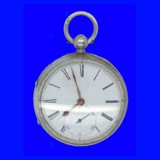 Mint Silver Coventry Fusee Lever Pocket watch with Unusual Steel Balance 1889