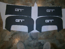 FORD BA BF FG GT SEAT LOGO TRIM BLACK LEATHER with SILVER STICHING NEW GENUINE
