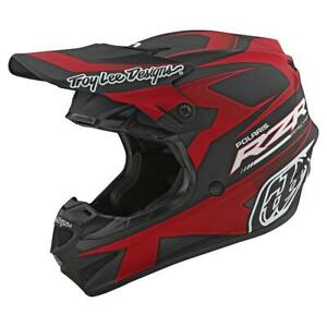 Troy Lee Designs 2020 SE4 Polyacrylite Helmet Polaris RZR Red All Sizes