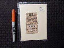 1943 FRANKENSTIEN MEETS WOLF MAN Print Ad / Greeting Card FN 6.0 Karloff Chaney