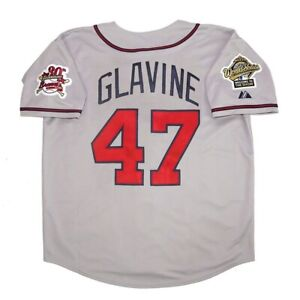 Tom Glavine Atlanta Braves 1995 World Series Grey Road Jersey Men's Medium