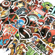 50Pcs MARVEL Avengers Sticker Spiderman Hulk Deadpool Car Laptop Skatboard Decal
