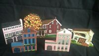 VINTAGE MIXED LOT OF 5 SHEILA'S COLLECTIBLES WOODEN SHELF SITTERS 1990-1997