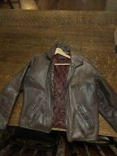 Banana Republic Brown Leather Jacket Men Medium
