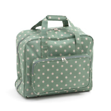 HobbyGift Vinyl PVC Sewing Machine Bag Storage Craft Mr4660 264 Moss Polka Dot