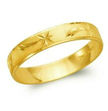 14K yellow solid Gold band Ring Men's Women's Wedding Engagement 4mm size 5-11