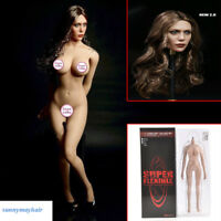 1/6 Female Head Sculpt Elizabeth Olsen & Flexible Seemless Action Body Set