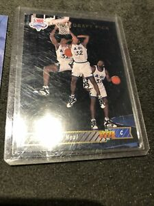 1992 UPPER DECK #1B SHAQUILLE O'NEAL & #2 Alonzo Mourning