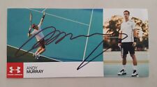 ANDY MURRAY TENNIS CHAMPION SIGNED IN PERSON 8.6 x 4.2 INCH PROMO CARD COA