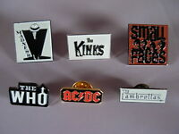 Pop & Rock group pin badge Iron maiden Madness Kinks Bowie. Who Hendrix Beatles