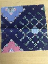 """QUILTERS NEWSLETTER MAGAZINE 25TH ANNIVERSARY CHARM SQUARE FABRIC 5.5 X 6"""""""