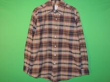 Brooks Brothers Mens Size M Medium Plaid Pocket Long Slv Button Shirt